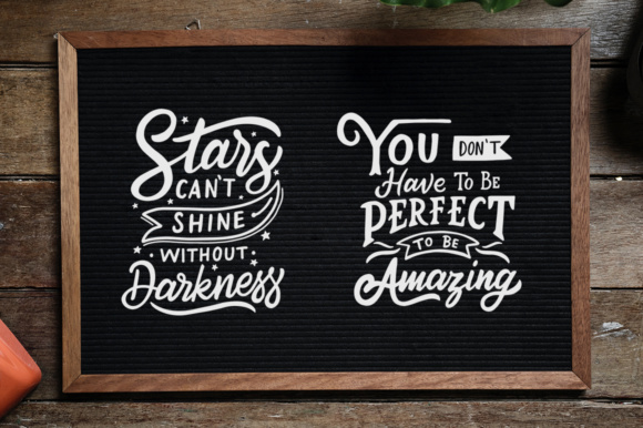 Inspirational Quotes Lettering Graphic By Weape Design