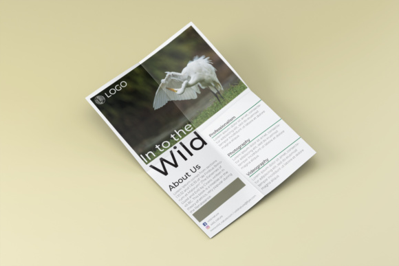 Into the Wild Flyer Template Graphic Print Templates By harizandy