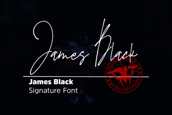Print on Demand: James Black Script & Handwritten Font By motokiwo