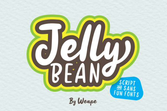 Jelly Bean Font By Weape Design Image 1