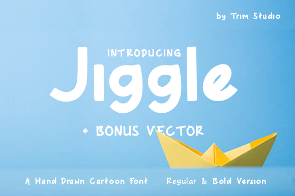 Print on Demand: Jiggle Decorative Font By Trim Studio