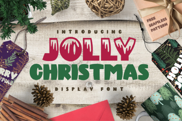 Print on Demand: Jolly Christmas Display Font By Caoca Studios