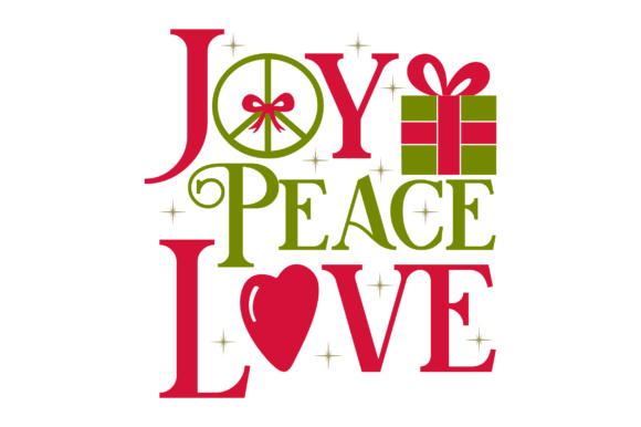 Joy Peace Love Christmas Craft Cut File By Creative Fabrica Crafts