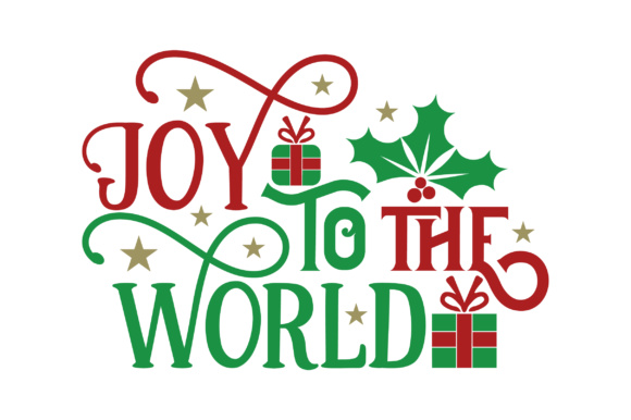 Joy to the World Gifts Navidad Craft Cut File Por Creative Fabrica Crafts