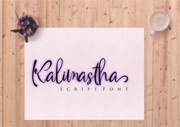 Print on Demand: Kalimastha Script & Handwritten Font By Muhammad Ersya