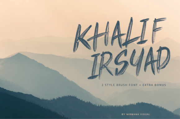 Print on Demand: Khalif Irsyad Display Font By Sigit Dwipa