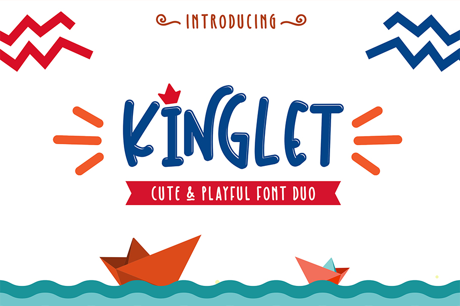 Download Free Kinglet Duo Fuente Por Mlkwsn Studio Creative Fabrica for Cricut Explore, Silhouette and other cutting machines.