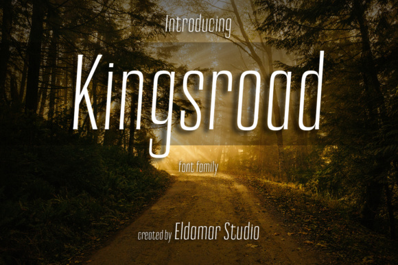 Print on Demand: Kingsroad Serif Font By Eldamar Studio Fonts