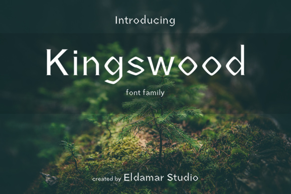 Print on Demand: Kingswood Serif Font By Eldamar Studio Fonts