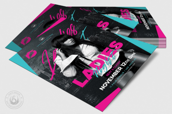 Ladies Night Flyer Template V8 Graphic Print Templates By ThatsDesignStore - Image 4