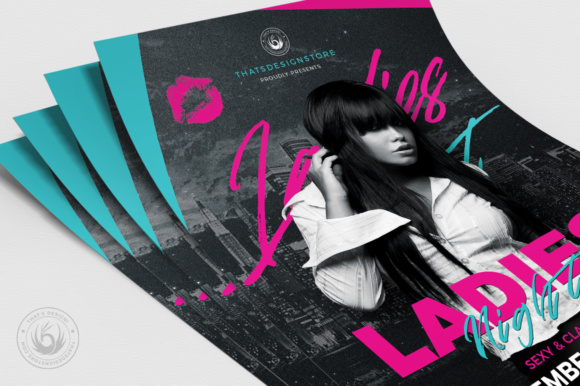 Ladies Night Flyer Template V8 Graphic Print Templates By ThatsDesignStore - Image 5