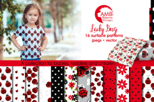 Ladybug Papers AMB Graphic Patterns By AMBillustrations