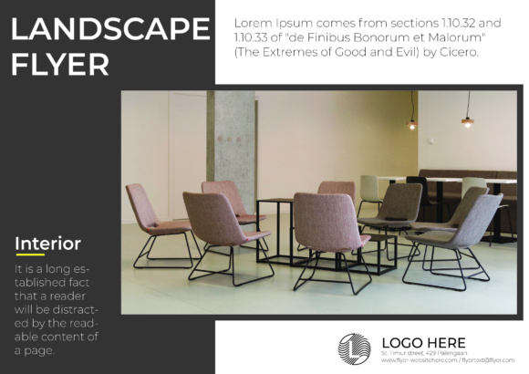 Landscape Flyer Interior Chair Graphic Print Templates By harizandy - Image 2