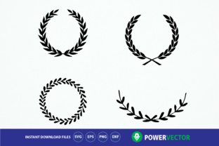 Laurel Wreaths Graphic By Powervector Creative Fabrica
