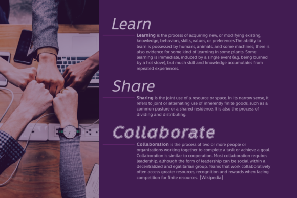 Learn Share Collaborate Family Font By Situjuh Image 2