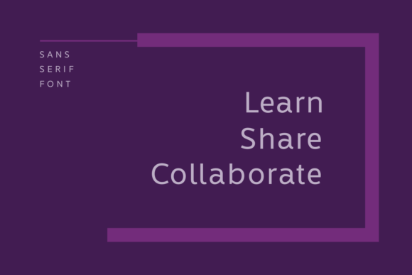 Print on Demand: Learn Share Collaborate Family Sans Serif Font By Situjuh
