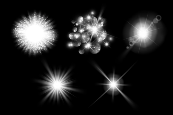 Lens Flare, Rays, Star and Sparkles Graphic Objects By Yurlick - Image 3