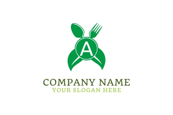 Letter A Food Healthy Logo Design Graphic By Yahyaanasatokillah