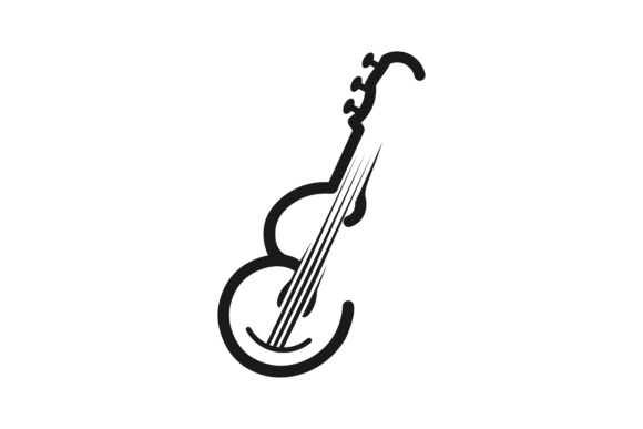 Download Free Letter E Guitar For Musical Mono Line Logo Designs Inspiration for Cricut Explore, Silhouette and other cutting machines.