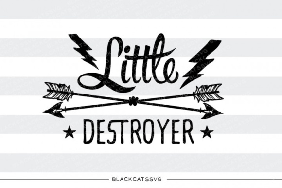 Little Destroyer SVG Graphic Crafts By BlackCatsMedia - Image 1
