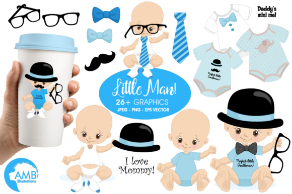 Little Man Clipart Graphic Illustrations By AMBillustrations