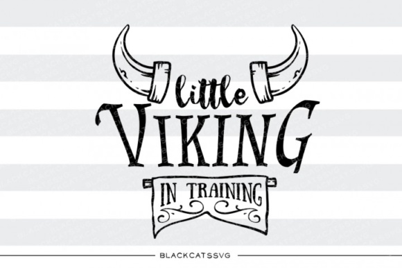 Little Viking in Training Svg Graphic Crafts By BlackCatsMedia