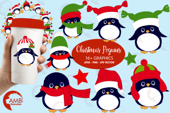 Download Free Llittle Penguin Cliparts Graphic By Ambillustrations Creative for Cricut Explore, Silhouette and other cutting machines.