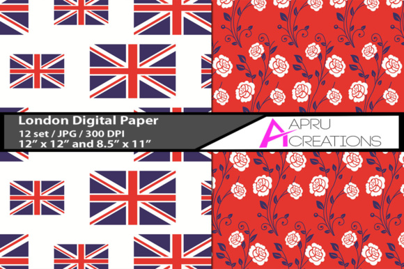 Print on Demand: London Digital Patterns Graphic Crafts By aparnastjp - Image 2