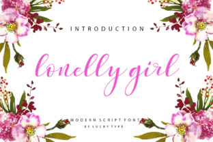 Lonelly Girl Font By luckytype.font
