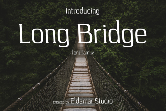 Print on Demand: Long Bridge Serif Font By Eldamar Studio Fonts - Image 1