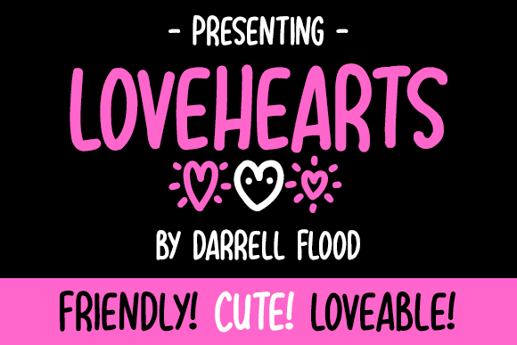 Print on Demand: Lovehearts Script & Handwritten Font By Dadiomouse