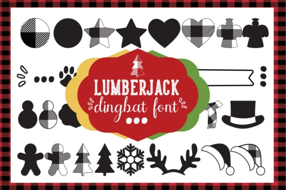 Print on Demand: Lumberjack Dingbats Font By Cute files - Image 1