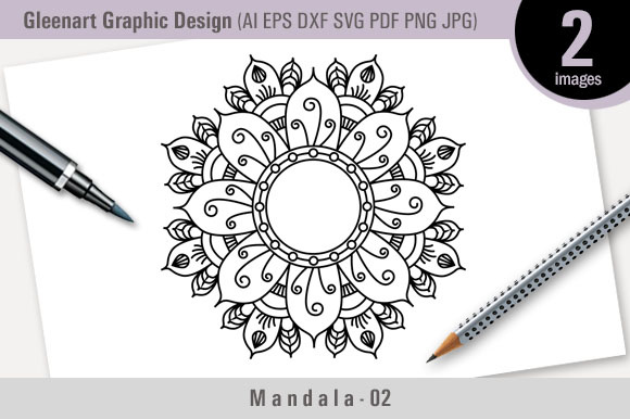 Mandala Vector Design - Graphic 02 Gráfico Ilustraciones Por Gleenart Graphic Design
