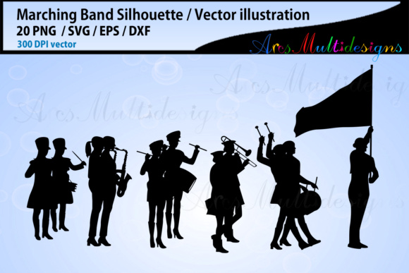 Marching Band Silhouette Bundle Graphic By Arcs Multidesigns