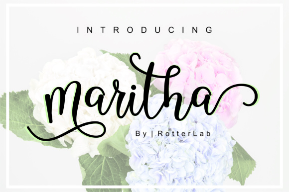 Print on Demand: Maritha Script Script & Handwritten Font By rotterlabstudio