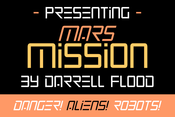 Print on Demand: Mars Mission Display Font By Dadiomouse