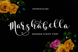 Print on Demand: Marshabella Script Script & Handwritten Font By Aqeela Studio