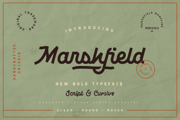 Print on Demand: Marshfield Display Font By Adam Fathony