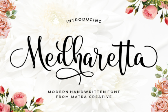 Print on Demand: Medharetta Script & Handwritten Font By Matra Creative
