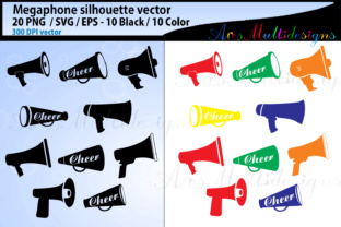 Download Free Megaphone Vector Silhouette Svg Graphic By Arcs Multidesigns for Cricut Explore, Silhouette and other cutting machines.