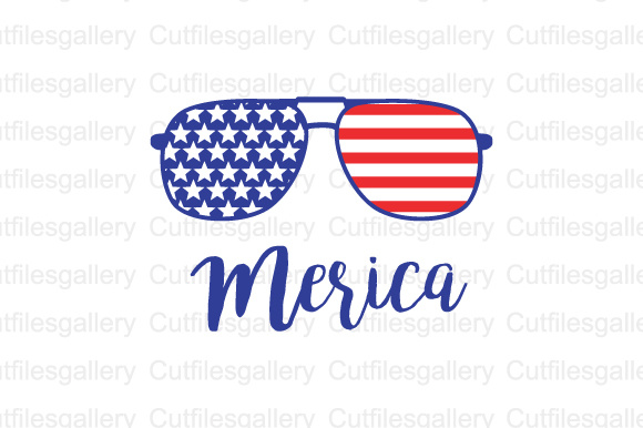Download Free Merica 4th Of July Cut Files Graphic By Cutfilesgallery for Cricut Explore, Silhouette and other cutting machines.