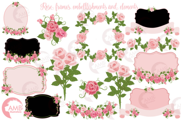 Roses and Frames AMB Graphic Illustrations By AMBillustrations - Image 4
