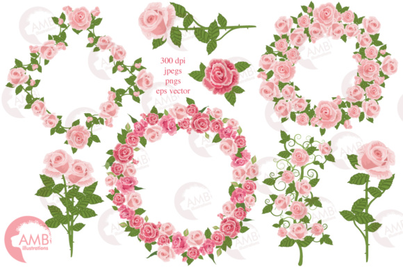 Roses and Frames AMB Graphic Illustrations By AMBillustrations - Image 5