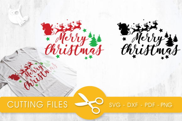 Merry Christmas Quote Graphic Crafts By PrettyCuttables