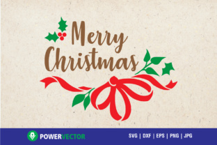 Download Free Merry Christmas Greeting Card Graphic By Powervector Creative SVG Cut Files