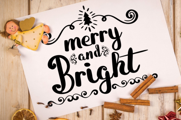 Download Free Merry And Bright Font By Lickable Pixels Creative Fabrica for Cricut Explore, Silhouette and other cutting machines.