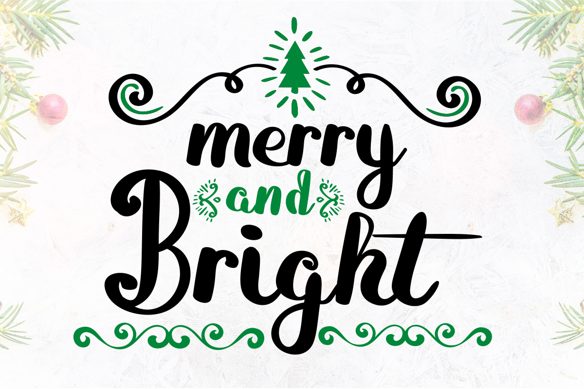 Merry And Bright Font By Lickable Pixels Creative Fabrica