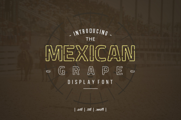 Mexican Grape Font By yantodesign Image 1