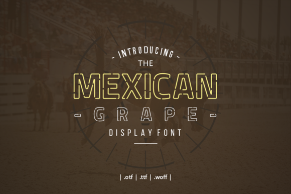 Mexican Grape Font By yantodesign Image 9