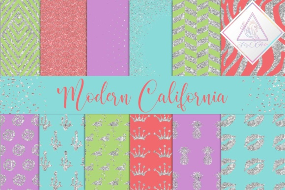 Print on Demand: Modern California Digital Paper Graphic Textures By fantasycliparts